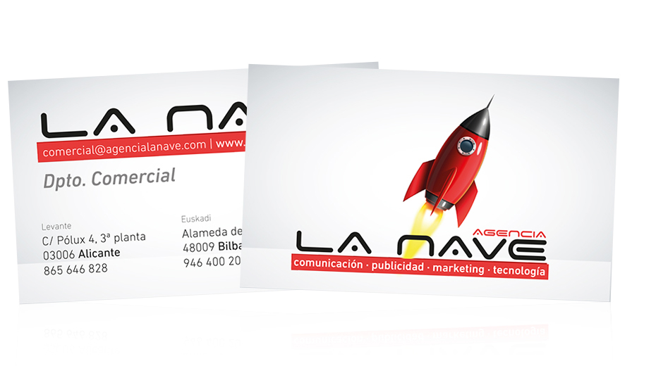 Business cards for La Nave Agency