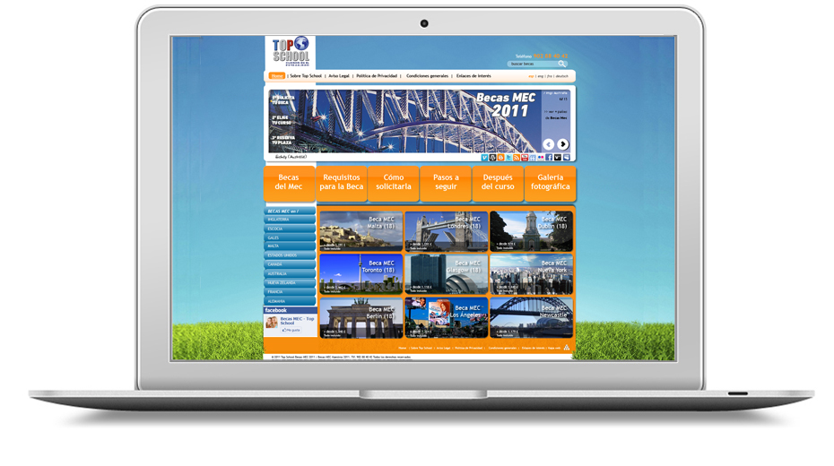 Topschool web design image